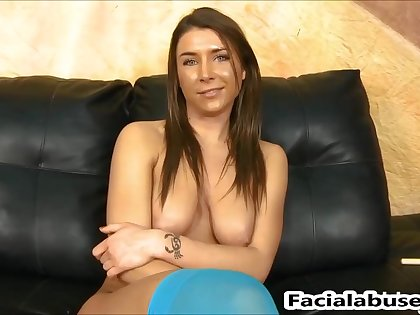 Felicity Feline propagate nailed rock hard at Facial Cumshot
