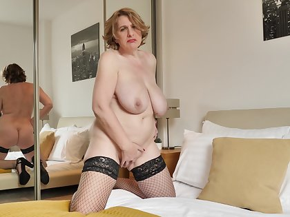 Mature Camilla CreamPie is all alone with the addition of seeking self-pleasure