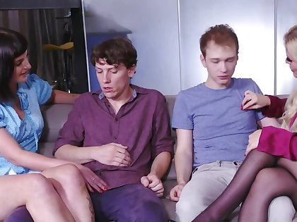 Charmers succeed in off when stepsons put cocks in their mouths
