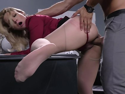 Unmitigated lust for the curvy office MILF