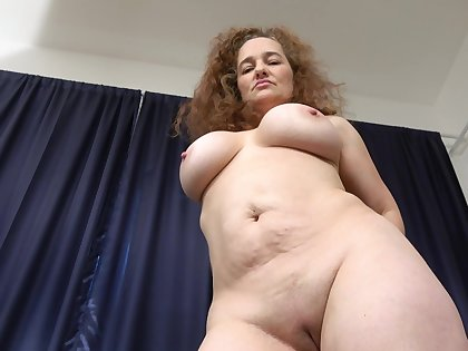 Solo obese doyenne woman playing with her horny pussy in HD