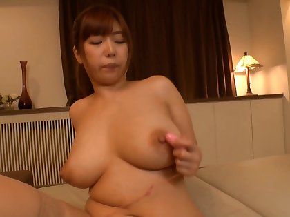 After a blowjob and a titjob Naho Hazuki gets fucked by a dude