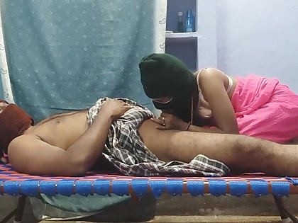 horny Newly Partial to indian Couple doing beautiful fucking pussy licking bushwa sucking with an eye to HARD fucking