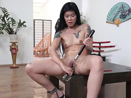 Hot geisha peeing added to dildoing yourselves