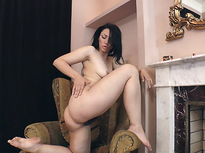 Dote on Morris strips naked by her fireplace  - Compilation - WeAreHairy