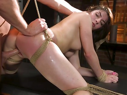 Rough bondage be fitting of the tight amateur
