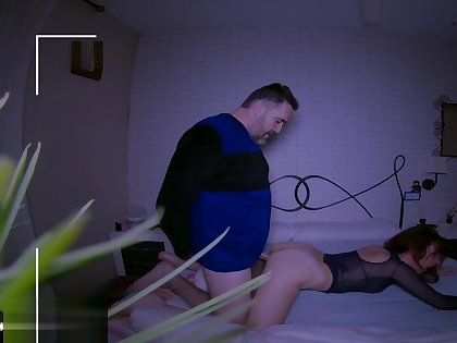 Wife catches husband having it away an escort with respect to a hidden camera