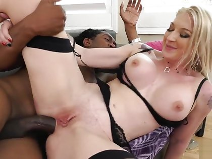 Full-grown little one with large confidential Interracial