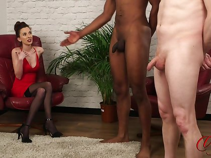 Disingenuous parcel out Ella Rose enjoys watching a black dude stroke his penis