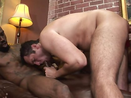 Man takes big black cock in frowardness while wife is straponing him