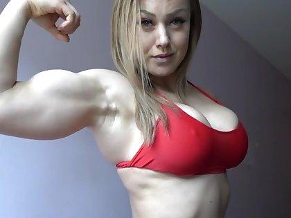 Hot Little Muscle Milf Flexing - Mature